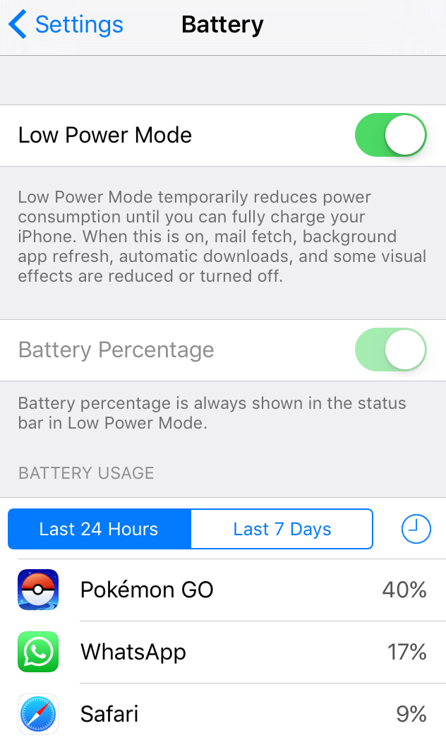 iPhone Battery Low Power