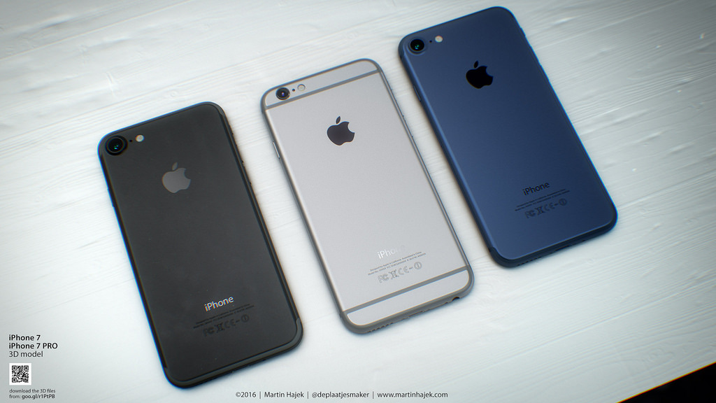 iPhone 7 blue and black