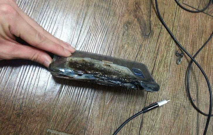 Samsung Galaxy Note 7 exploding battery