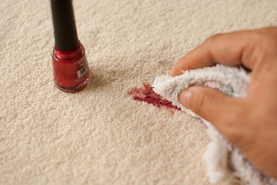 removing nail polish from a carpet, cleaning hacks